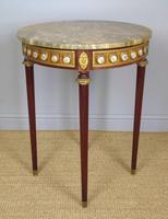 Good Louis XVI Style Marble & Kingwood Lamp Table (3 of 8)