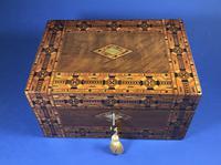 Victorian Walnut Tunbridge Ware Inlaid Jewellery Box (9 of 11)