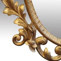 Antique Carved Oval Gilt Mirror (5 of 7)