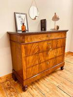 Antique Flamed Mahogany Chest of Drawers / Washstand / Commode With Marble (5 of 5)