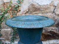 Large Pair of 1950s French Cast Iron Urns (2 of 4)