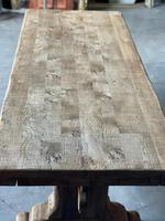 Superb Rustic Large Bleached Oak Farmhouse Table with Extensions (4 of 36)