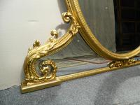Large 5' Gilt Overmantel Mirror (4 of 6)