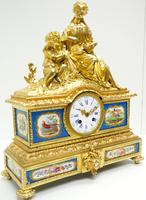 Antique 8 Day Ormolu Mantel Clock Sevres Mother & Child French Mantle Clock (16 of 16)