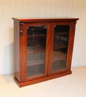 Late 19th Century Glazed Two Door Bookcase (2 of 7)