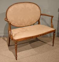 Satinwood Painted Sofa From 19th Century (4 of 6)