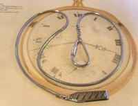 Vintage Pocket Watch Chain 1970s Long Silver Chrome Snake Link Albert & Belt Clip (3 of 10)