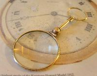 Victorian Pocket Watch Chain Monocle Magnifying Fob 1880s 12ct Rose Gold Filled (3 of 11)