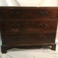 Antique Early Victorian Three Drawer Chest Stained Pine (2 of 12)