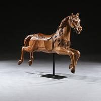 Antique Gustav Bayol Jumping Carousel Horse Late 19th Century (5 of 6)