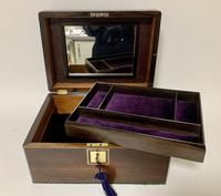 Antique Fitted Rosewood Jewellery Box (5 of 12)