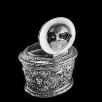 Rare Antique Solid Silver Cellini Tea Caddy Box - Mappin & Webb 1902 (14 of 28)