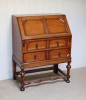 Solid Golden Oak Bureau (4 of 10)