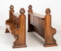 Pair of Victorian Carved Oak Pews (11 of 11)