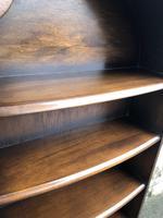 Slim Oak Domed Top Waterfall Open Bookcase (2 of 6)