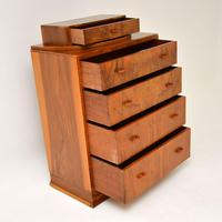 Art Deco Figured Walnut Chest of Drawers (5 of 12)