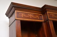 Antique Sheraton Style Inlaid Mahogany Open Bookcase (11 of 11)