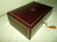 Quality Unisex Inlaid Rosewood Jewellery Box. c1840 (2 of 11)