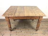 Antique Pine Farmhouse Kitchen Table with Oak Top (2 of 9)