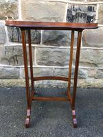 Antique Inlaid Mahogany Tray Top Table (5 of 10)