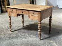 French Bleached Oak Writing Desk (16 of 21)