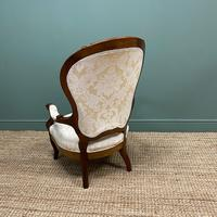Stunning Mahogany Upholstered Antique Armchair (3 of 7)