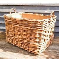 Large Wicker Log Basket on Wheels (4 of 6)