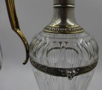 Antique Silver Parcel Gilt Claret Jug. 800 Standard c.1880 (6 of 9)