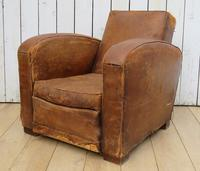 1930s French Leather Club Chair (9 of 13)