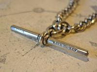 Victorian Pocket Watch Chain 1890s Antique Albo Silver Curb Link Albert With T Bar (10 of 12)