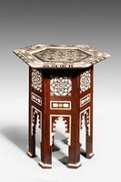 Hexagonal Bone & Hardwood Centre Table (2 of 5)