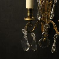 French Pair of Gilded Brass Wall Lights (4 of 10)