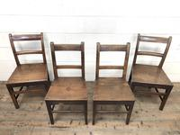 Four 19th Century Oak Back Bar Chairs (4 of 10)