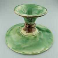 Attractive Majolica Pottery Cabbage Ware Comport / Tazza 19th Century (5 of 6)