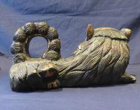 """16"""" Wide Antique Temple Dogs Fo Dogs Hand Carved T (8 of 9)"""