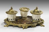 Rare 19th Century Gilt Bronze & Chinese Lacquered Inkwell (7 of 8)