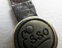 Rare ESSO Solingen Folding Pocket Knife, Advertising Gas Pump Standard Motor Oil Novelty Penknife. Germany c.1920 (5 of 9)