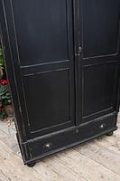 Gorgeous! Large Old Victorian Pine & Black Painted Hall Cupboard / Wardrobe - We Deliver! (6 of 10)