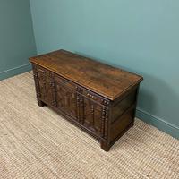 17th Century Oak Geometric Moulded Antique Coffer (5 of 7)