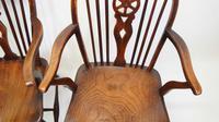 Pair Georgian Oak & Elm  Windsor armchairs (10 of 20)