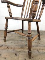 Antique Beech & Elm Windsor Armchair (6 of 12)