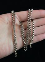 Antique 9ct gold muff chain, Victorian necklace (11 of 17)