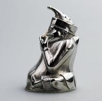 A Rare & Fine Solid Silver Novelty Mr Punch Pepper Shaker William Sparrow C.1903 (3 of 8)