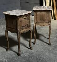 Pair of French Marble Top Bedside Cupboards (10 of 26)
