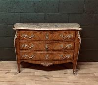 Beautiful French Louis XVI Style Tulip wood marble top commode (3 of 12)