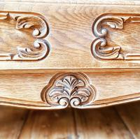 French Antique Style Chest of Drawers / Louis XV Style Raw Oak Chest (3 of 9)