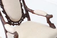 Pair of 19th Century Black Forest Open Armchairs (7 of 10)