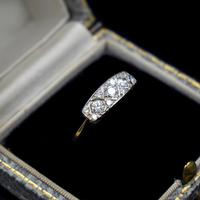 Antique Diamond 11 Stone 18ct 18K Yellow Gold & Platinum Ring (10 of 10)