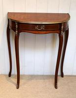 French Mahogany Demi Lune Table (4 of 10)