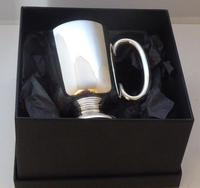 1928 Walker & Hall Hallmarked Solid Silver Christening Mug Tankard Gift Boxed (3 of 9)